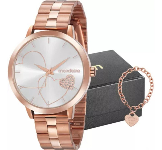 Relógio Feminino Mondaine Rosê 32102lpmkre2k1 E Semijóia
