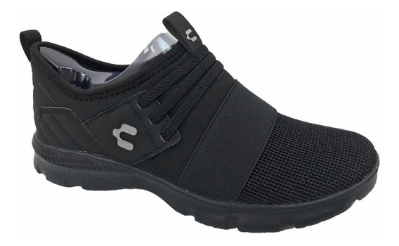 Tenis Charly 1049290 Mujer Casual Deportivo Negro Textil