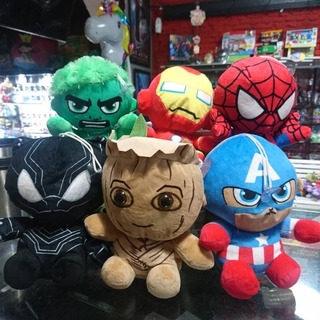 Peluche Groot Hulk Ion Man Spiderman Capitan America