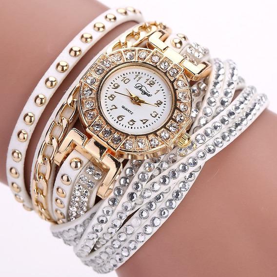 Relógio Pulseira De Couro Vintage Feminino Importado
