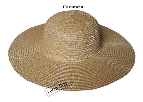 25 Chapéu Praia Atacado Feminino Aba Grande Promoção *