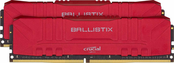 Memoria Crucial Ballistix 3000mhz Ddr4 16gb 8gbx2 Cl15 Red