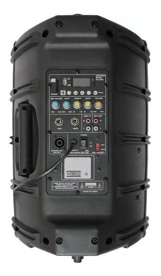 Caixa Csr 2500 Bi Amplificada Fal 10 Usb Bluetooth Fm 100w