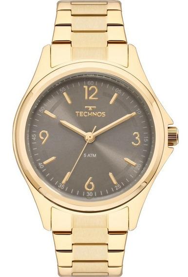 Relógio Technos Feminino Dourado 2035mni/4c Original Barato