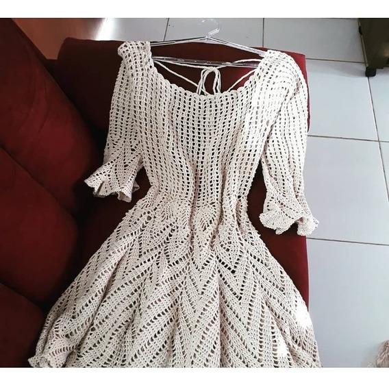Vestido De Crochê A Pronta Entrega