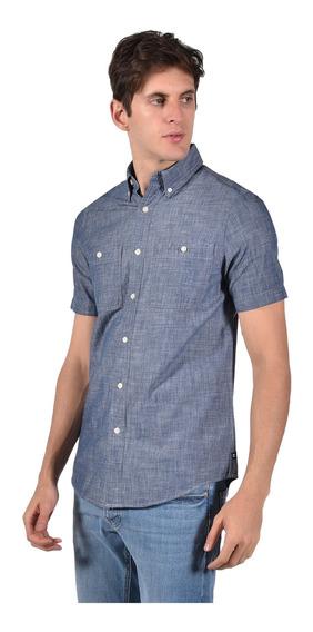 Camisa Classic Fit Chaps Azul 750712418-2zca Hombre