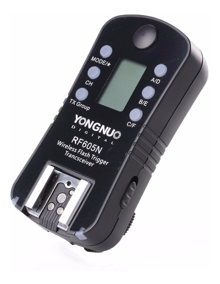 Radio Flash Yongnuo Unitário Rf605n Para Nikon - Temos Loja!