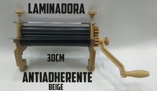 Máquina Laminadora De Masa Rodillo Antiadherentes 30cm Beige