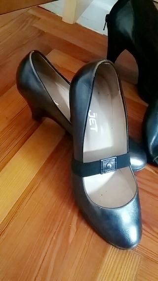 Zapatos Taco Bajo, Excelente Estado!