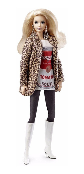 Barbie Collector Campbell Soup Limited Ed Andy Warhol 2016