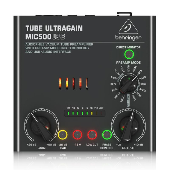 Pré Amplificador Behringer Vacuum Tube Mic500 Garantia 2anos