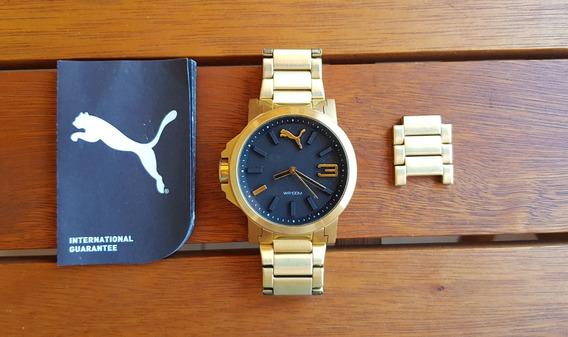 Relógiopuma Dourado Original - Comprado Fora Do País