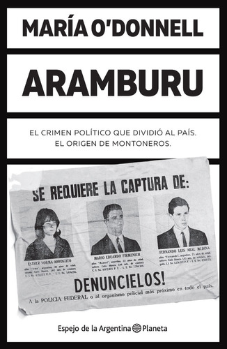Imagen 1 de 2 de Aramburu  - María O'donnell - Planeta