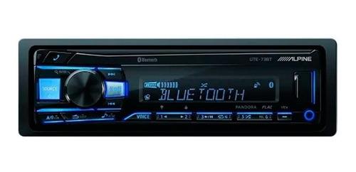 Imagen 1 de 5 de Autoestereo Alpine Bluetooth Multicolor Usb Mp3 Ute-73bt