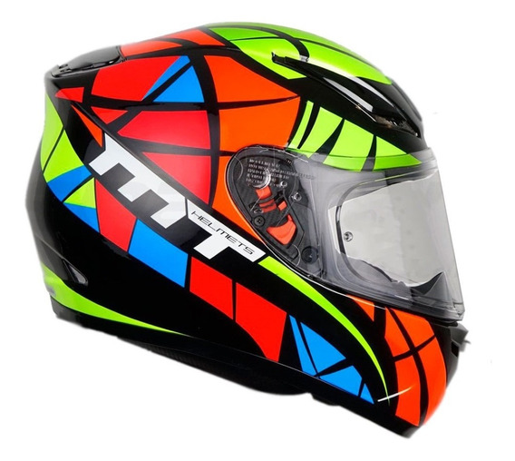 Capacete Mt Revange Speeding Gloss Multicor