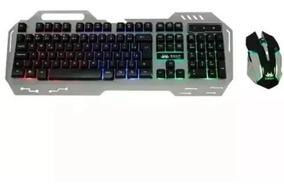 Kit Gamer Teclado + Mouse Kt-2054 3 Cores De Iluminação Led