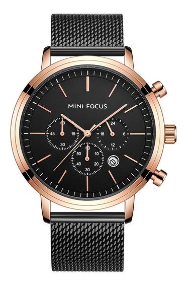 Relógio De Pulso Mini Focus Luxo Malha Strap Relógio Quartzo