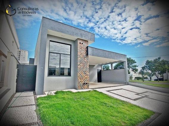Casa Com 3 Dormitórios À Venda, 185 M² Por R$ 1.190.000,00 - Condomínio Villa Bella Livorno - Paulínia/sp - Ca1171