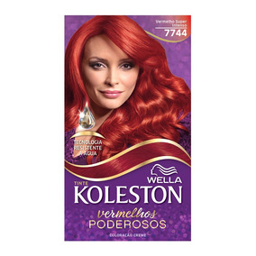Coloração Creme Koleston Kit Vermelho Super Intenso 7744