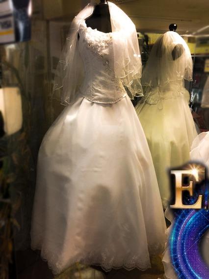 Vestido De Xv Nuevo Contemporáneo Incluye Velo Diseño Esme