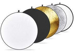 Rebatedor Fotográfico 5x1 De 60cm Difusor Circular + Bolsa