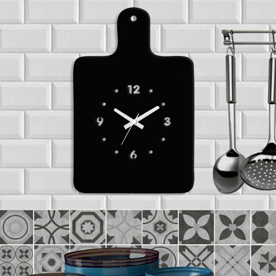 Kit 3 Relógios De Parede Decorativo - Modelo Tábua De Corte