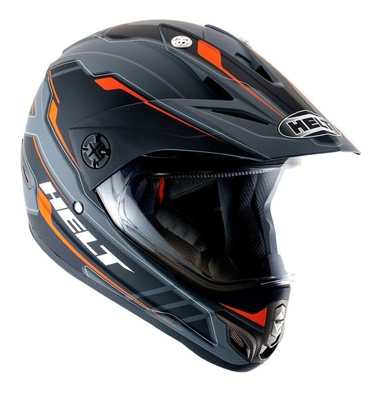 Capacete Helt Cross Vision Triller Orange Enduro Trilha