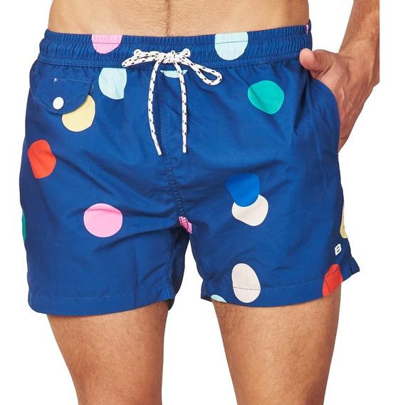Short De Baño Bensimon Dots Hombre Moda Verano