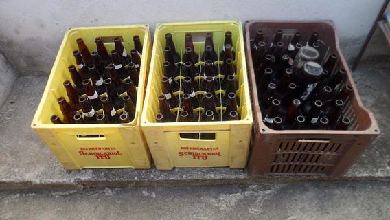 Lote Com 78 Garrafas Vazias De Cerveja 600ml + 02 Vasilhame