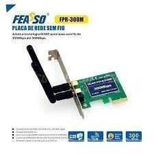 Placa Pci Express Wireless C/2 Ant Feasso Fpr-300m