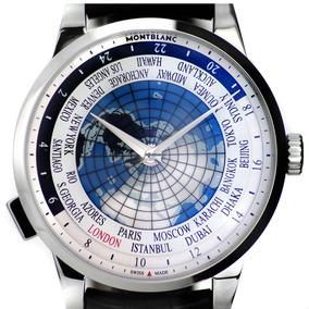 Relogio Montblanc Spirit Orbis Terrarum 41mm World Time Novo