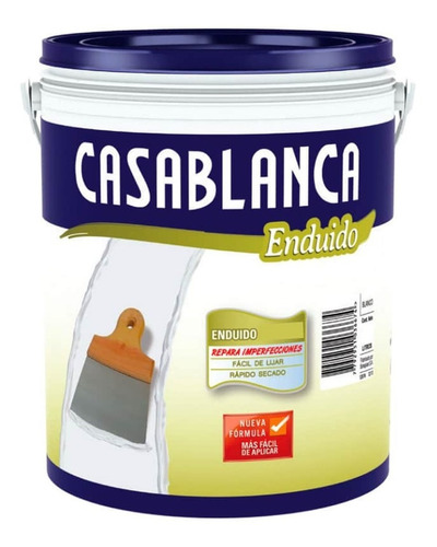 Enduido Exterior Casablanca X 4l Resiste Intemperie Pintumm