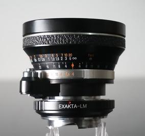 Lente Carl Zeissflektogon 25mm + Adaptador Leica Mount Lm
