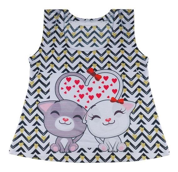 Kit 20 Blusas Camiseta Princesa Modelos Variados Atacado