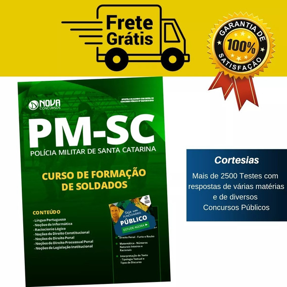 Apostila Soldado Pm Sc Polícia Militar De Santa Catarina