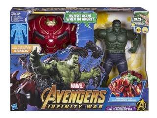 Hulk Y Hulkbuster Infinity Wars Armadura Habla Luz 20 Frases