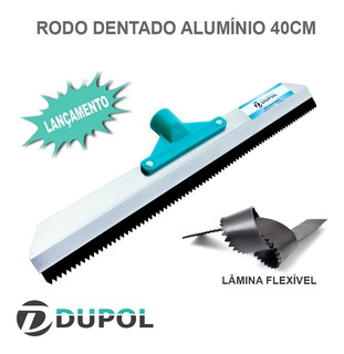 Rodo Dentado 40cm - Rodo Nivelador - Rodo Epoxi Porcelanato