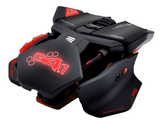 Mouse Gamer Pro Red 9500 Dpi 9 Botões Chassi Metal Original