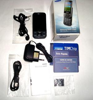 Celular Samsung Duos Slider C-3752 - Tim - Usado - Perfeito