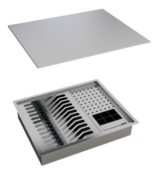 Calha Úmida Organizadora Lateral Quadratta Escorredor 50x40