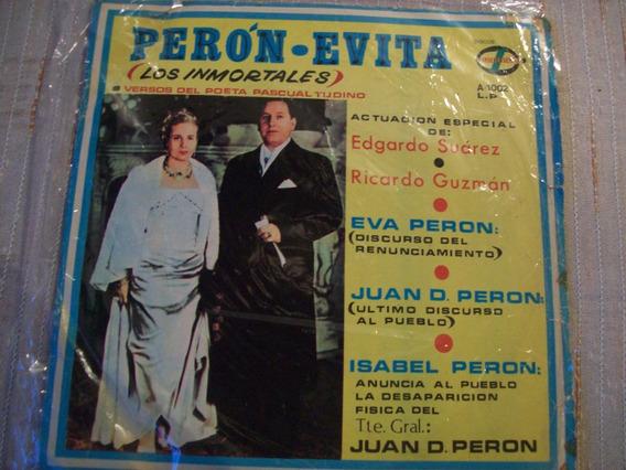 Disco De Vinilo Perón - Evita (los Inmortales)