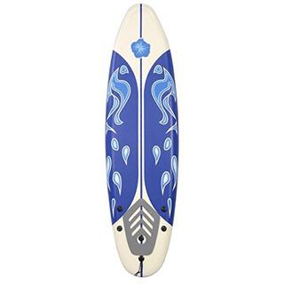 Tabla De Surf Para Principiantes, Blanco Y Azul, De 182 Cms