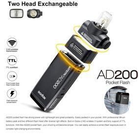 Godox Ad200 Flash Portátil Ttl Hss Externo Remoto Rádio