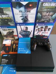 Playstation 4 Ps4 500gb Controle E Jogo Na Caixa Barato