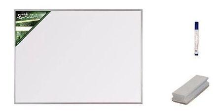 Quadro Branco 90x60 Magnético 5612 Com 1 Caneta, 1 Apagador