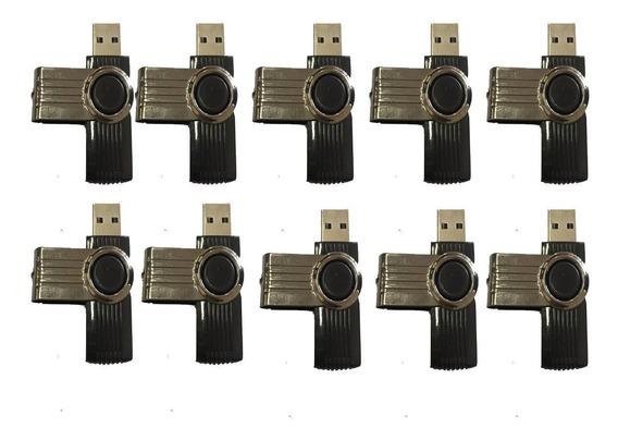 Kit 10 Pen Drive 4 Gb Sem Logo Produto Novo
