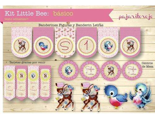 Kit Little Bee Rosa