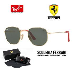 Ray Ban Hexagonal 3548 Ferrari Original + Boné Puma Brinde
