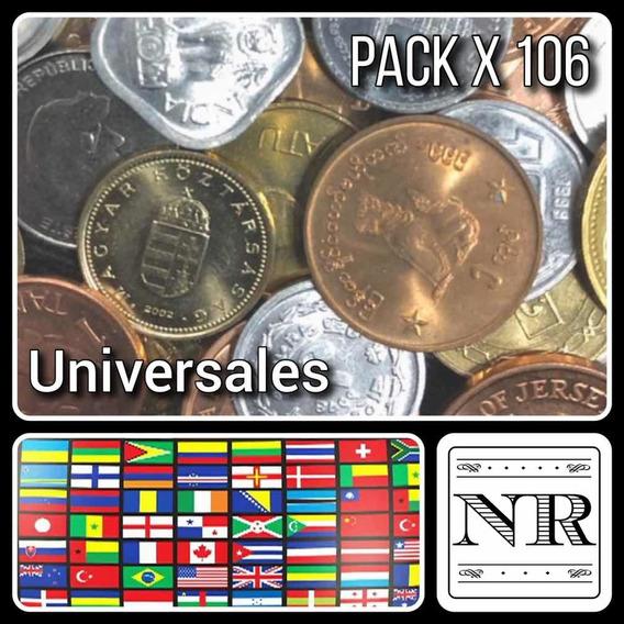 Lote 106 Monedas Paises Exoticos - Africa - Asia - Oceania