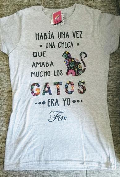 Playera Amor A Los Gatos Algodón Tallas Extras